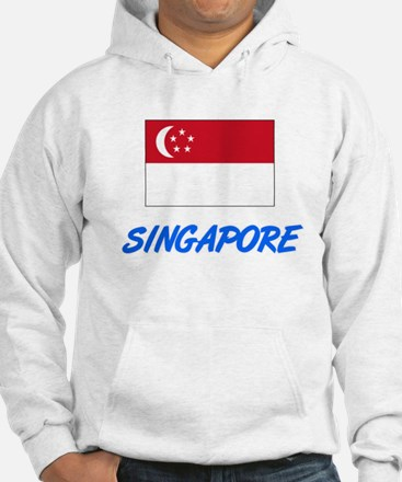 Singapore Flag Artistic Blue Design Sweatshirt