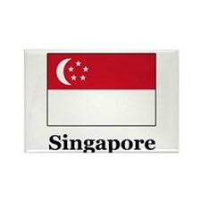 Singaporean Heritage Singapor Rectangle Magnet