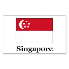 Singaporean Heritage Singapor Sticker (Rectangular