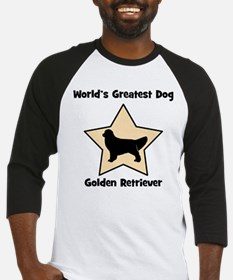 Worlds Greatest Golden Retrie Baseball Jersey