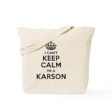 Funny Karson Tote Bag