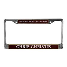 Chris Christie President V3 License Plate Frame