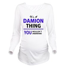 Cute Damion Long Sleeve Maternity T-Shirt