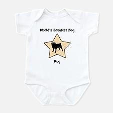 Worlds Greatest Pug (star) Infant Bodysuit