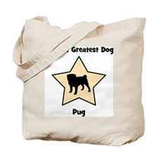 Worlds Greatest Pug (star) Tote Bag
