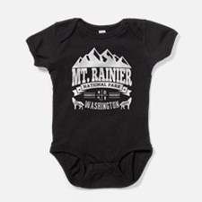 Mt. Rainier Vintage Baby Bodysuit
