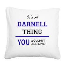 Cute Darnell Square Canvas Pillow