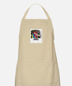 "HAPPY BIRTHDAY ""PARROT LOOK"" BBQ Apron"