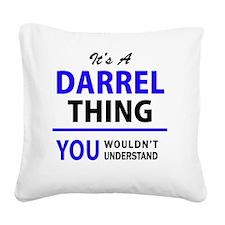 Unique Darrell Square Canvas Pillow