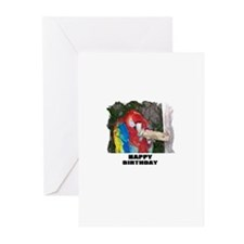 "HAPPY BIRTHDAY ""PARROT LOOK"" Greeting Cards (Packa"