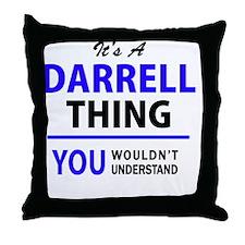 Funny Darrell Throw Pillow