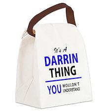 Cute Darrin Canvas Lunch Bag