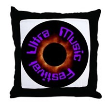 Ultra Music Festival Eclipse Throw Pillow