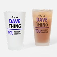 Dave Drinking Glass
