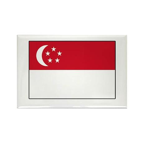 Singaporean Flag Singapore Rectangle Magnet