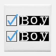 Boy/Boy Check Tile Coaster