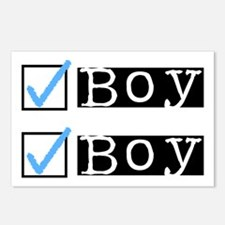 Boy/Boy Check Postcards (Package of 8)
