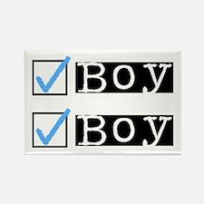 Boy/Boy Check Rectangle Magnet