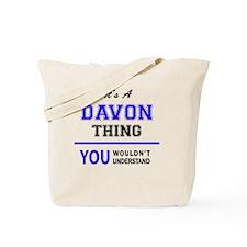 Funny Davon Tote Bag