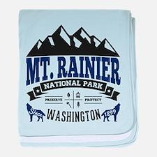 Mt. Rainier Vintage baby blanket
