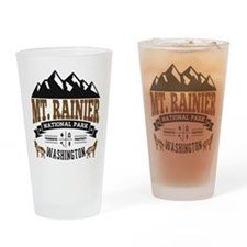 Mt. Rainier Vintage Drinking Glass