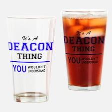 Unique Deacon Drinking Glass