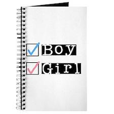 Boy/Girl Check Journal