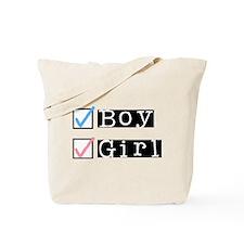Boy/Girl Check Tote Bag