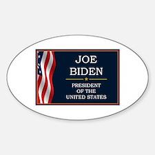 Joe Biden President V3 Sticker (Oval)