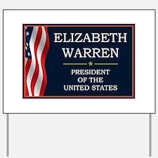 Elizabeth Warren President V3 Yard Sign