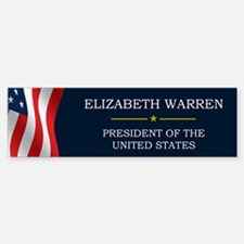Elizabeth Warren President V3 Bumper Bumper Sticker