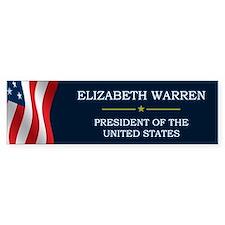 Elizabeth Warren President V3 Bumper Sticker