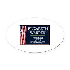 Elizabeth Warren President V3 Oval Car Magnet
