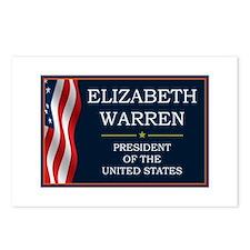 Elizabeth Warren Presiden Postcards (Package of 8)