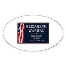 Elizabeth Warren President V3 Decal