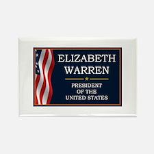 Elizabeth Warren President V3 Rectangle Magnet