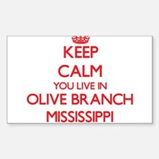 Keep calm you live in Olive Branch Mississ Decal