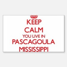 Keep calm you live in Pascagoula Mississip Decal