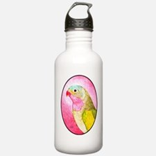 Cute Floral art painting pink Water Bottle
