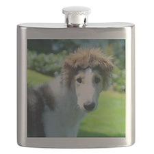 Borzoi Bonnet Ears Flask