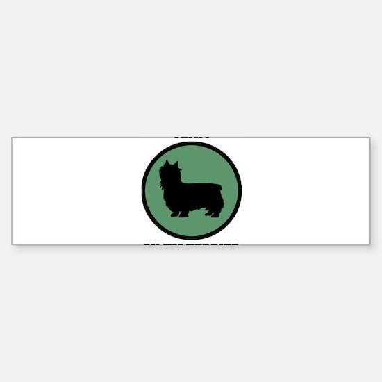 Team Silky Terrier (green) Bumper Bumper Bumper Sticker