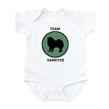 Team Samoyed (green) Onesie