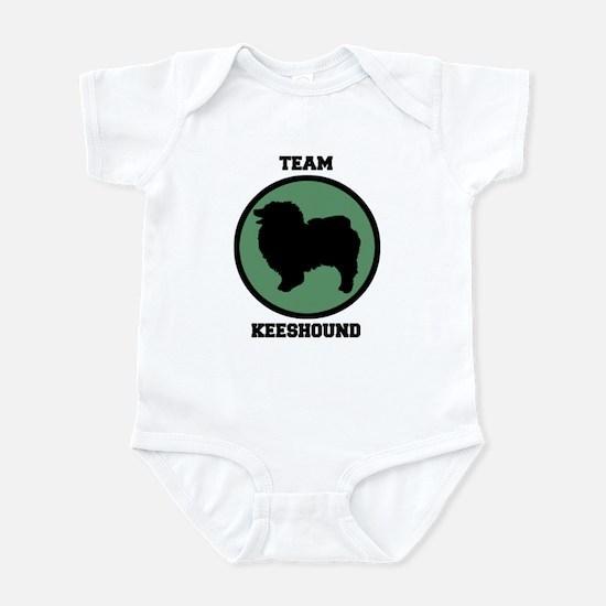 Team  Keeshound (green) Infant Bodysuit