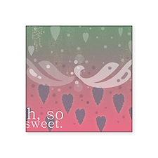 "Cute Sweet watermelon Square Sticker 3"" x 3"""