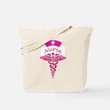 Pink Nurse Hat Tote Bag