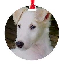 Blonde Borzoi Puppy Ornament