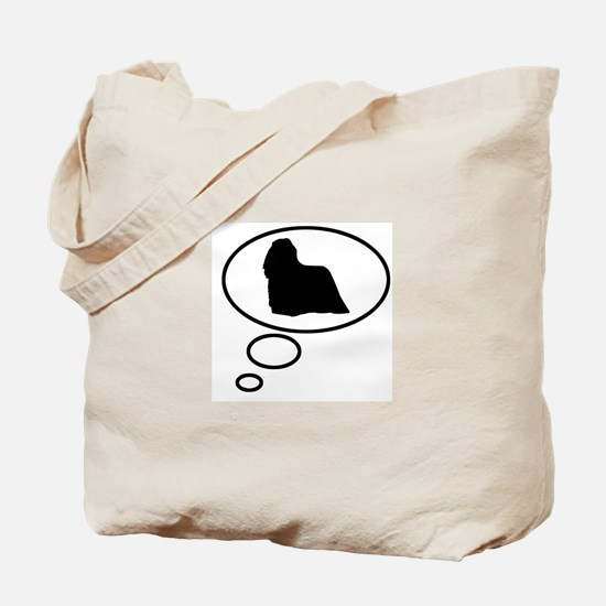 Thinking of Komondor Tote Bag