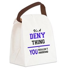 Funny Denis Canvas Lunch Bag