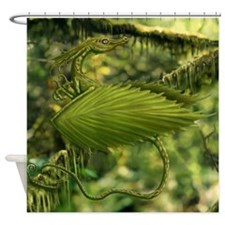 Perched Earth Dragon Shower Curtain