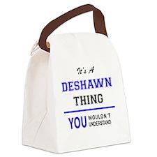 Cute Deshawn Canvas Lunch Bag